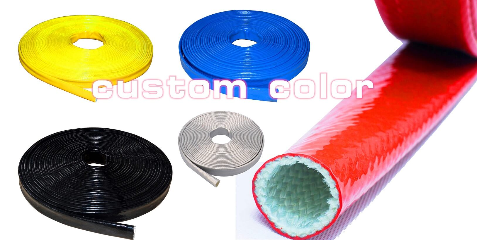 Fireproof/Anti-fire Fiberglass Insulation Sleeving